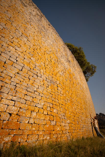 The walls of the great enclosure at Great Zimbabwe