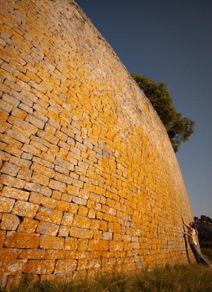 The walls of the great enclosure at Great Zimbabwe