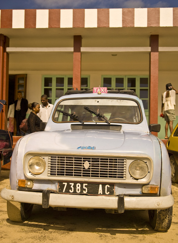 A typical malagasy taxi: Renault 4 at Maroansetra airport.