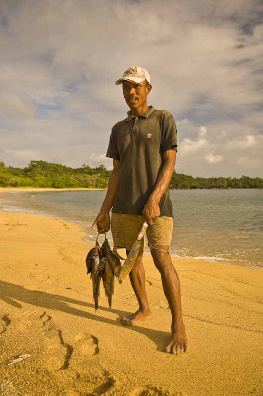 Malagasy fisherman on Masoala Peninsula.