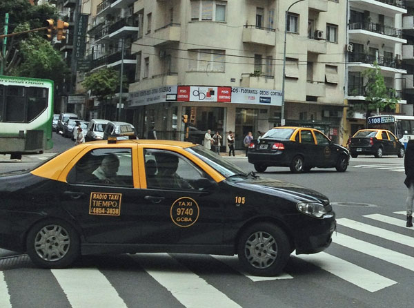 A typical Buenos Aires taxi. Not Marcelo's.