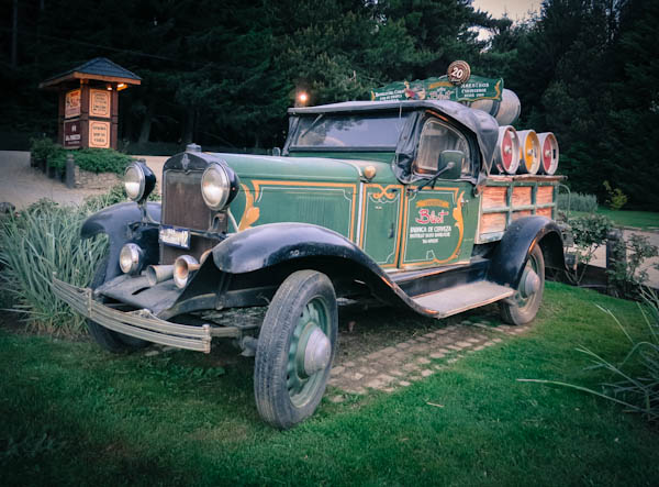 Vintage car at Blest, Bariloche