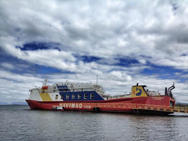 The Navimag Ferry Evangelista in Puerto Natales