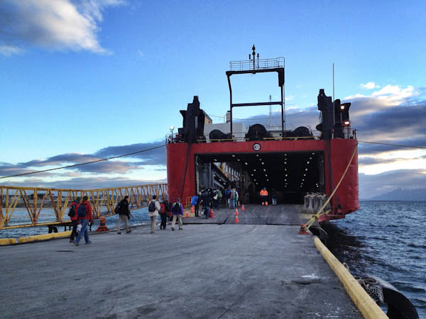 Boarding the Navimag Ferry Evangelistas