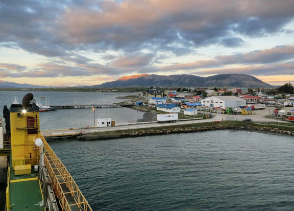 On board the Navimag in Puerto Natales, ready to sail at 4am next morning.