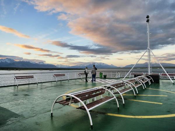 Upper deck of Navimag Ferry Evangelistas