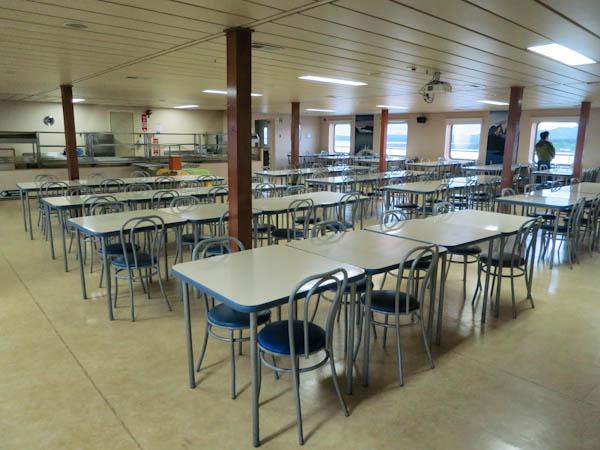 The dining room on Navimag Ferry Evangelistas