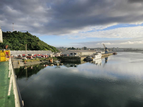 Early morning in Puerto Montt on the Navimag Ferry