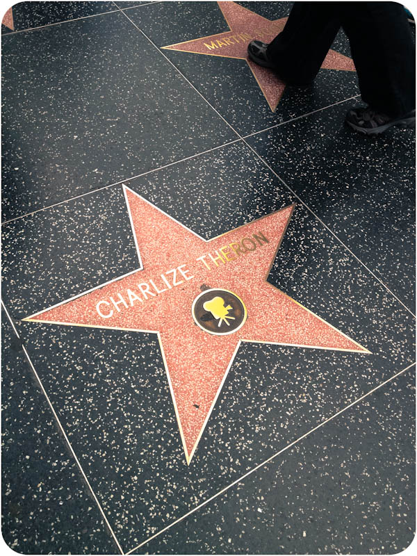 She's right next to Martin Scorsese and not far from Tom Cruise, in a very good neighbourhood of the walk of fame.