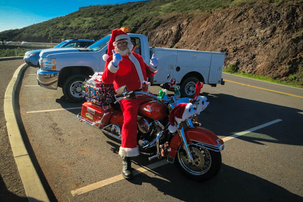 We also got to meet Santa on his Harley at one of the viewpoints.