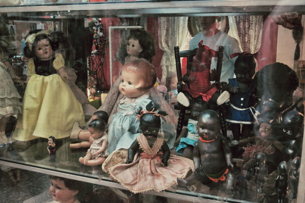 I was perturbed to see something that looked distinctly like Dolly Apartheid going on in this shop.