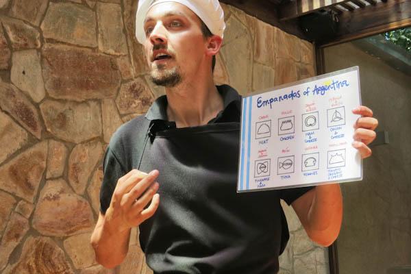 Richard, explaining empanadas